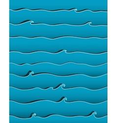 Ocean or sea waves background vector