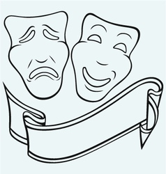 Theatrical mask vector