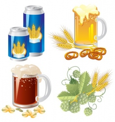 Beer set vector