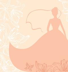 Bride card pink vector