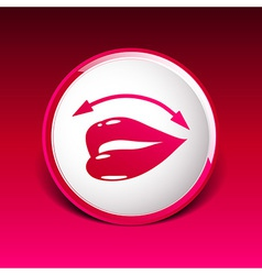 Lips icon isolated on white background vector