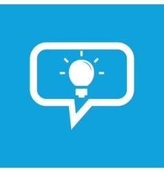 Light bulb message icon vector