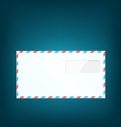 Single close envelope on blue background vector