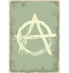 Anarchy sign vector