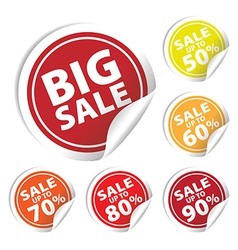 Bigsale circle sale up to 50 to 90 percent vector