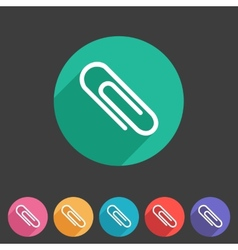 Paperclip badge flat icon sign set symbol vector