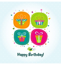 Template greeting card gifts vector
