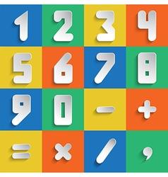 Simple form number set vector