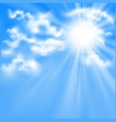 Blue sky and sun vector