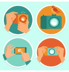 Cameras and mobile photography vector