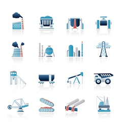 Heavy industry icons vector