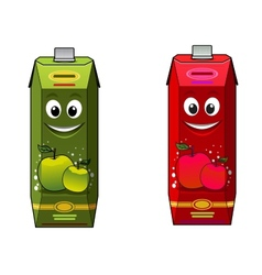 Cartoon apple juice packages vector