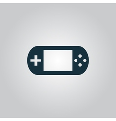 Handheld game console vector