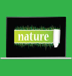Nature with grass vector