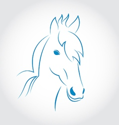 Symbol outline head horse isolated on white vector