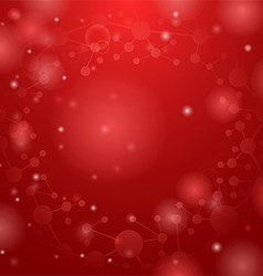 Red molecules background vector