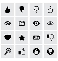 Like icon set vector