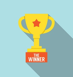 Flat design trophy vector