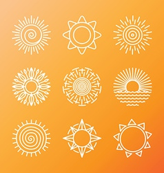 Summer concepts in linear style vector