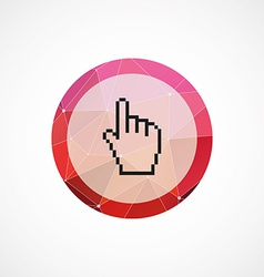 Pointer pixel cursor circle pink triangle vector