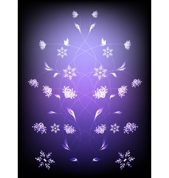 Abstract background with pattern of flowers eps10 vector
