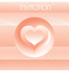 Template for your own design of invitation vector