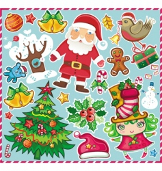 Christmas symbols set vector