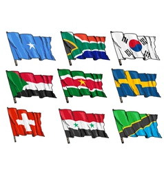 Set of national flags vector