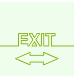 Inscription exit vector