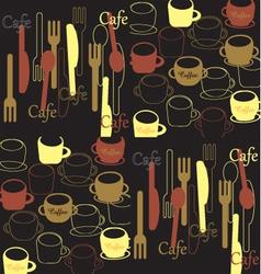Cafe background vector