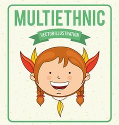 Multiethnic design vector