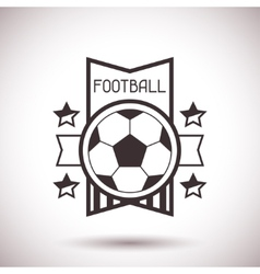 Sports label with football symbols vector