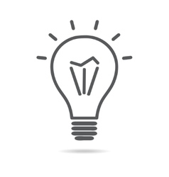 Light electrical bulb icon vector