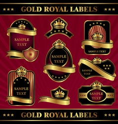 Gold royal labeles vector
