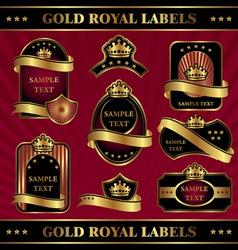 Gold royal labeles vector