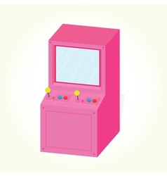 Arcade machine cabinet isolated vector