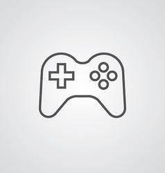 Joystick outline symbol dark on white background vector