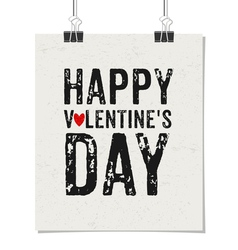 Happy valentines day vintage design poster vector