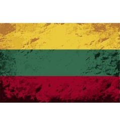 Lithuanian flag grunge background vector