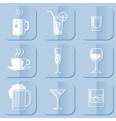 Drinking icons vector
