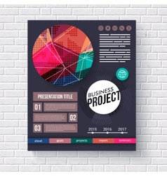 Stylish modern business project infographic vector