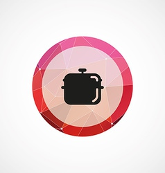 Pan circle pink triangle background icon vector