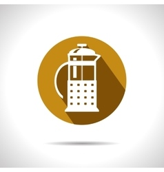 Teapot icon eps10 vector