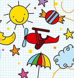 Toys drawing design vector