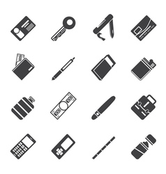 Simple object icons vector