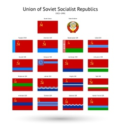 Soviet union ussr flags collection vector