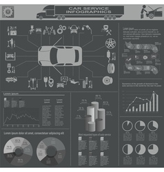 Car service repair infographics vector