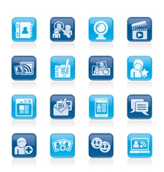Social networking and communication icons vector