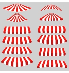 Set of red white tents vector