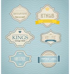Vintage labels discount labels set vector